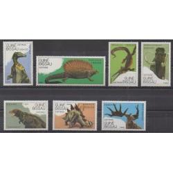 Guinée-Bissau - 1989 - No 542/548 - Animaux préhistoriques