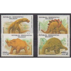 Madagascar - 1989 - Nb 896/899 - Prehistoric animals