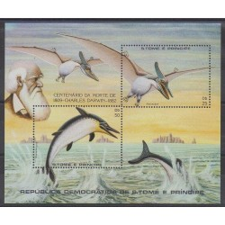 Saint Thomas and Prince - 1982 - Nb BF34 - Prehistoric animals