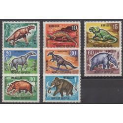 Mongolie - 1967 - No 405/412 - Animaux préhistoriques