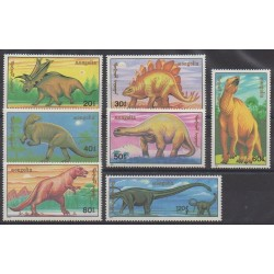 Mongolia - 1990 - Nb 1758/1764 - Prehistoric animals