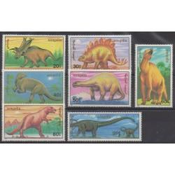 Mongolie - 1990 - No 1758/1764 - Animaux préhistoriques