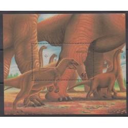 Mongolie - 1990 - No BF146 - Animaux préhistoriques