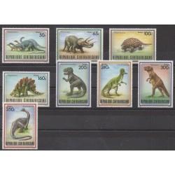 Centrafricaine (République) - 1988 - No 779/786 - Animaux préhistoriques