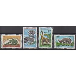 Congo (République du) - 1970 - No 275/278 - Animaux préhistoriques