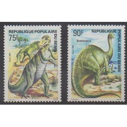 Benin - 1984 - Nb 606/607 - Prehistoric animals