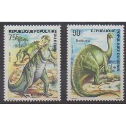 Bénin - 1984 - No 606/607 - Animaux préhistoriques