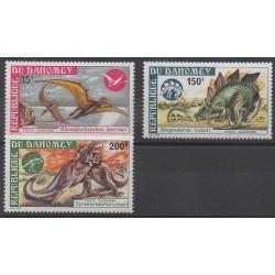 Dahomey - 1974 - No PA223/PA225 - Animaux préhistoriques