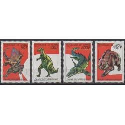 Guinée - 1987 - No 832/835 - Animaux préhistoriques