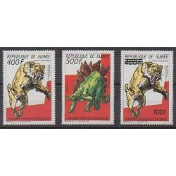 Guinea - 1987 - Nb PA217/PA218 - PA253 - Prehistoric animals