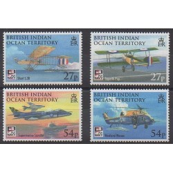 British Indian Ocean Territory - 2009 - Nb 421/424 - Planes - Helicopters