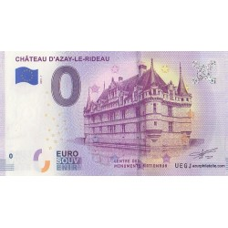 Euro banknote memory - 37 - Château d'Azay-le-Rideau - 2019-1