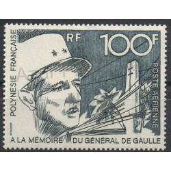 Polynésie - Poste aérienne - 1972 - No PA70 - de Gaulle