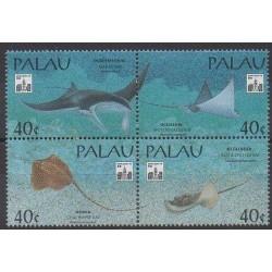 Palau - 1994 - No 614/617 - Animaux marins - Philatélie