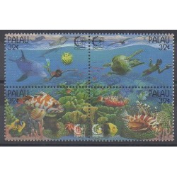 Palau - 1995 - No 832/835 - Animaux marins - Philatélie