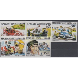 Centrafricaine (République) - 1981 - No 457/461 ND - Voitures - Sport