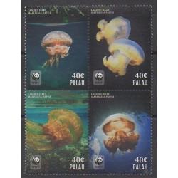 Palau - 2014 - No 3027E/3027H - Animaux marins - Espèces menacées - WWF