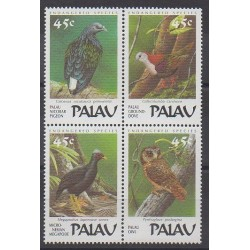 Palau - 1989 - Nb 229/232 - Birds