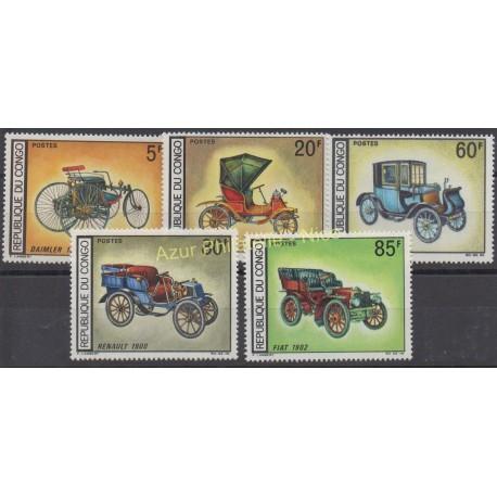 Congo (République du) - 1968 - No 220/224 - Voitures