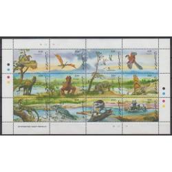 Guyana - 1992 - No 2815/2826 - Animaux préhistoriques