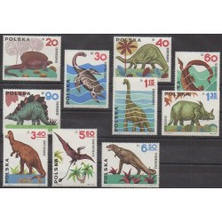 Poland - 1965 - Nb 1423/1432 - Prehistoric animals