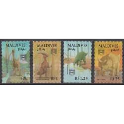 Maldives - 1992 - No 1567/1570 - Animaux préhistoriques