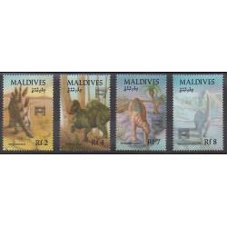 Maldives - 1992 - No 1517/1520 - Animaux préhistoriques