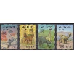 Maldives - 1992 - No 1586/1589 - Animaux préhistoriques