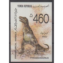 Yemen - 1990 - Nb BF3 - Prehistoric animals