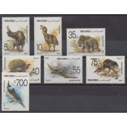 Yemen - 1990 - Nb 16/22 - Prehistoric animals