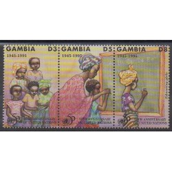 Gambie - 1995 - No 1811/1813 - Nations unies