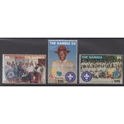 Gambie - 1995 - No 1863/1865 - Rotary ou Lions club - Scoutisme