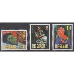 Gambie - 1998 - No 2640/2642 - Peinture