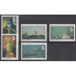 Gambie - 1987 - No 645/649 - Monuments