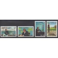 Gambie - 1988 - No 726/729 - Célébrités