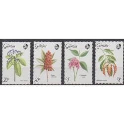 Gambie - 1989 - No 825/828 - Fleurs