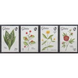 Gambia - 1989 - Nb 821/824 - Flowers