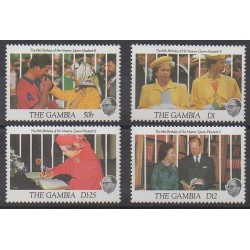 Gambie - 1991 - No 1019/1022 - Royauté - Principauté