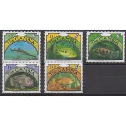 Gambie - 1991 - No 1052/1056 - Animaux marins