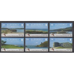Aurigny (Alderney) - 2008 - Nb 333/338 - Sights - Philately