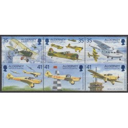 Aurigny (Alderney) - 1995 - Nb 83/88 - Planes