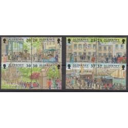 Aurigny (Alderney) - 1998 - Nb 122/129 - Various Historics Themes