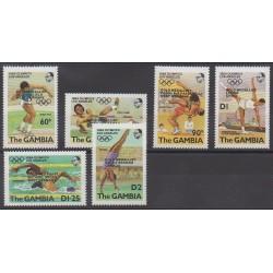 Gambie - 1985 - No 559/564 - Jeux Olympiques d'été
