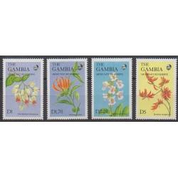 Gambie - 1987 - No 654/657 - Fleurs