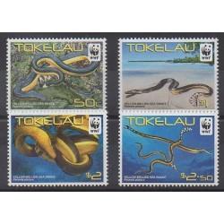 Tokelau - 2011 - Nb 340/343 - Reptils - Endangered species - WWF