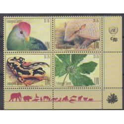 United Nations (UN - Geneva) - 2018 - Nb 1596/1599 - Endangered species - WWF - Environment