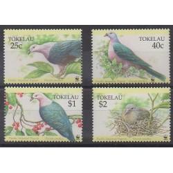 Tokelau - 1995 - No 209/212 - Oiseaux - Espèces menacées - WWF