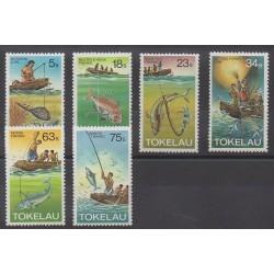 Tokelau - 1982 - No 85/90 - Artisanat ou métiers - Navigation