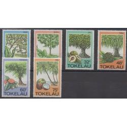 Tokelau - 1985 - No 118/123 - Fruits ou légumes - Arbres