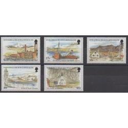Falkland-Géorgie du Sud et Sandwich du Sud - 1999 - No 288/292 - Sites